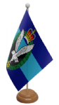 Army Air Corps Desk / Table Flag with wooden stand and base